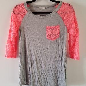 Gray and coral shirt